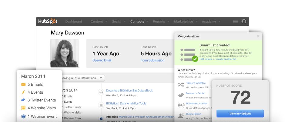 HubSpot-gestione-contatti