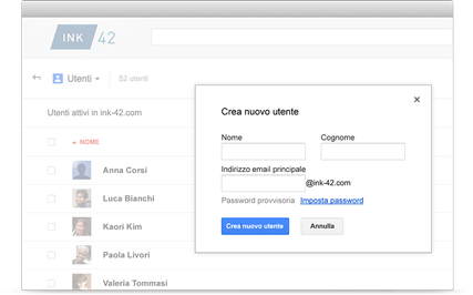 Console di amministrazione Google Apps