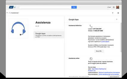 Google Apps per le aziende include il servizio di assistenza clienti direttamente da Google