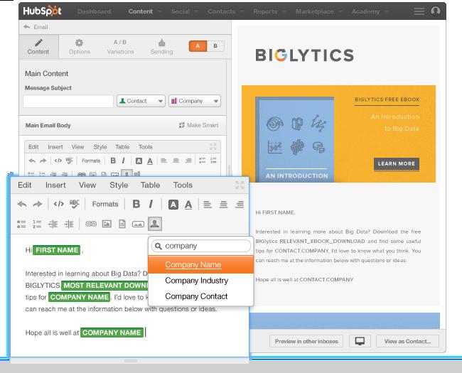 Inviare mail a liste con contenuti personalizzati