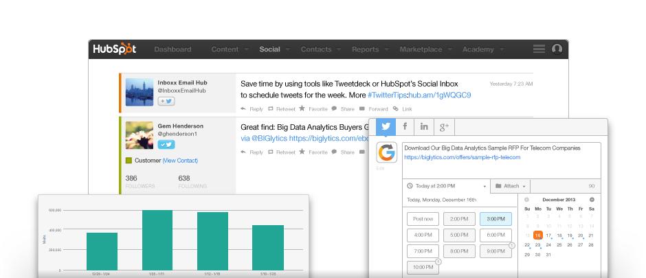 HubSpot Social media marketing software