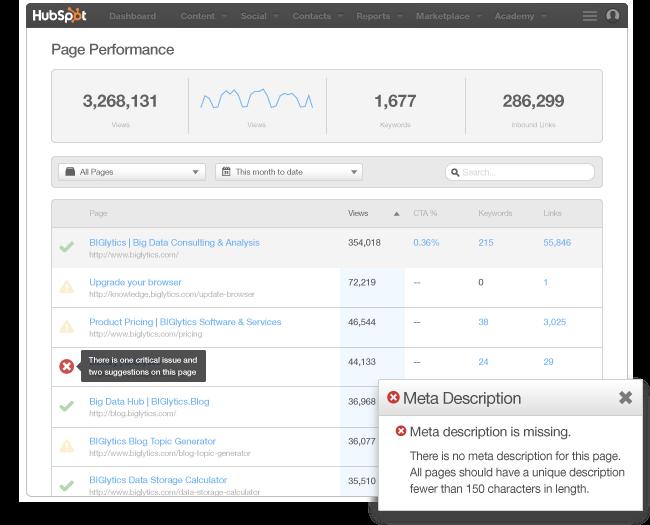 SEO - controllo formale delle pagine Web e segnalazioni anomalie