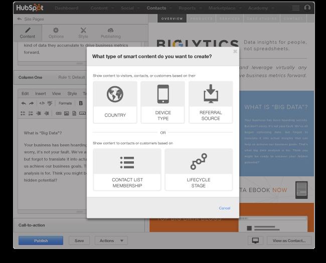 CMS per creare contenuti personalizzati per gli utenti