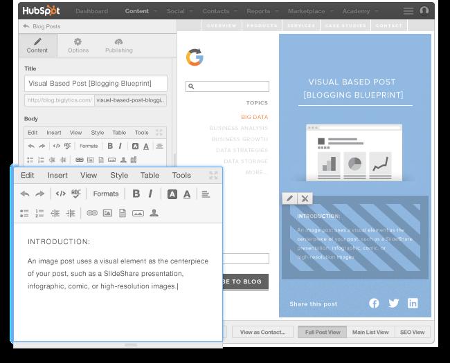 Il blog per creare facilmente contenuti