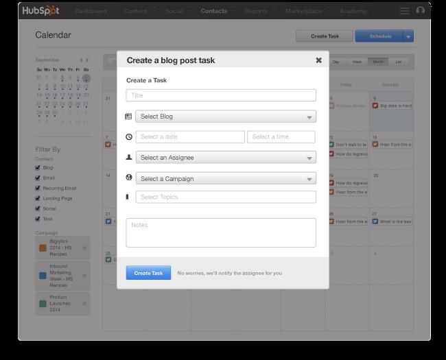 Organizzare i contenuti e le pubblicazioni delle landing pages