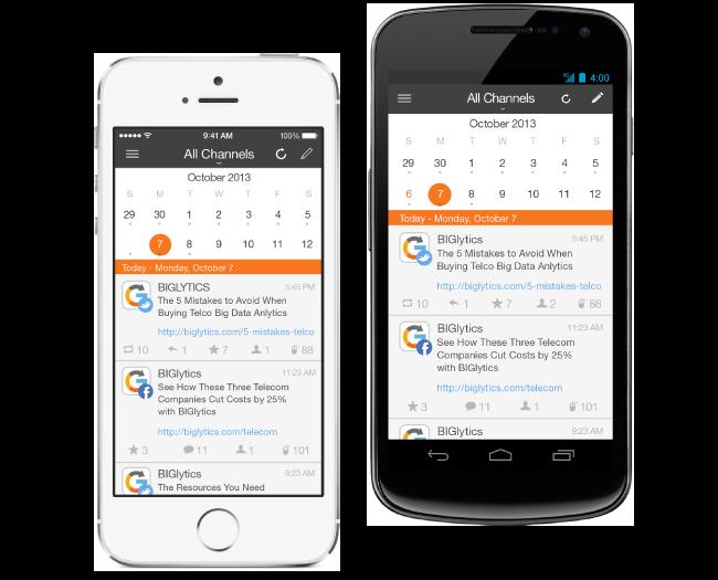 HubSpot Social Marketing Software da dispositivi Mobili