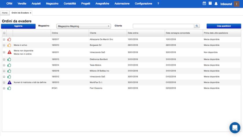Gestione magazzino e acquisti Starty ERP Cloud