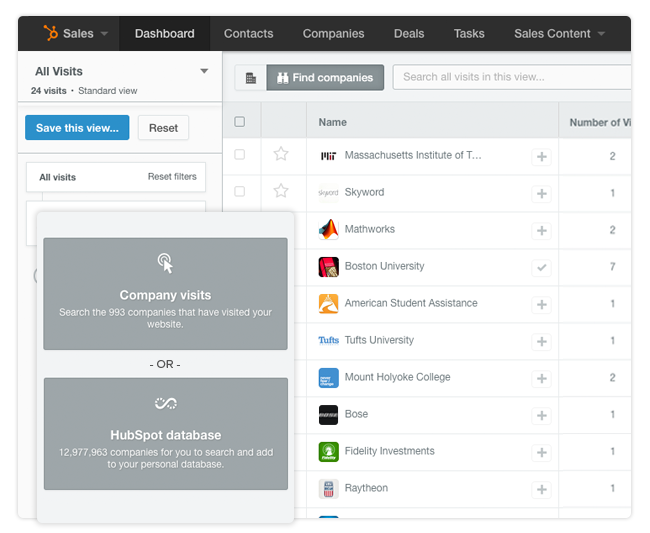 HubSpot CRM - ricerca nuovi clienti