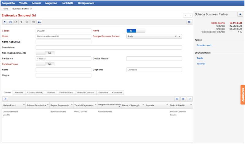 Anagrafiche contatti e aziende con Starty Erp | Gestionale in Cloud