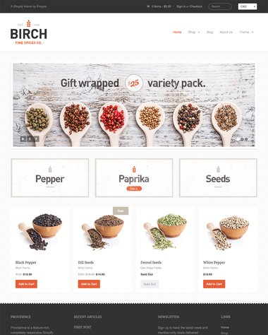 Esempio store Shopify