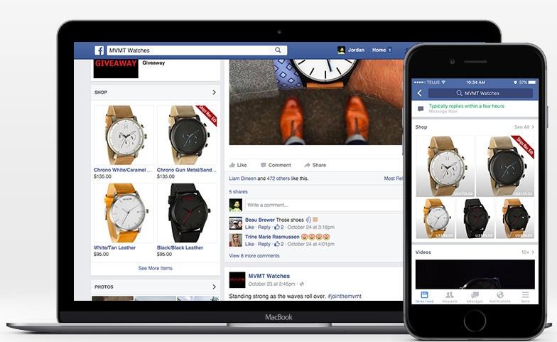 shopify facebook shop