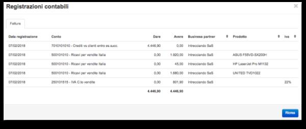 Registrazioni contabili Starty ERP